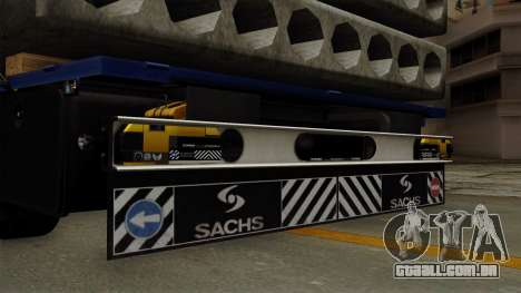 Flatbed3 Yellow para GTA San Andreas vista direita