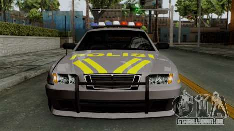Indonesian Police Type 1 para vista lateral GTA San Andreas
