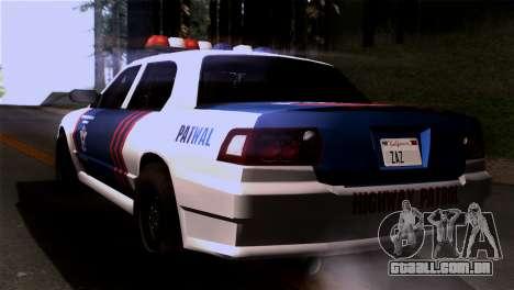 Indonesian Police Type 2 para GTA San Andreas esquerda vista