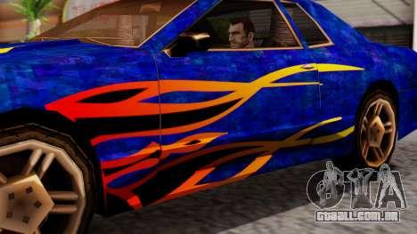 Elegy First Vinyl MQ para GTA San Andreas traseira esquerda vista