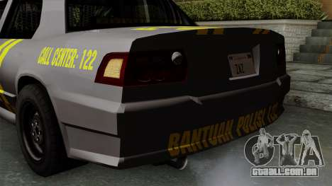 Indonesian Police Type 1 para GTA San Andreas vista inferior