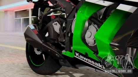 Kawasaki ZX-10R 2015 30th Anniversary Edition para GTA San Andreas vista traseira
