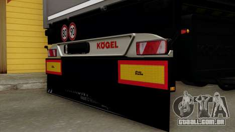 Trailer Kogel para GTA San Andreas vista traseira