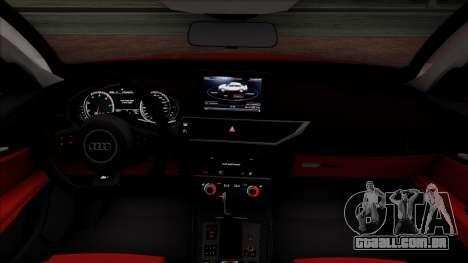 Audi RS7 2014 para vista lateral GTA San Andreas