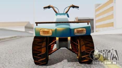 New Quad para GTA San Andreas traseira esquerda vista