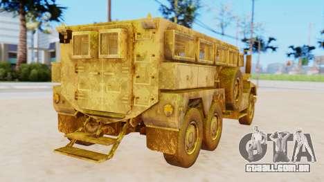 MRAP Cougar from CoD Black Ops 2 para GTA San Andreas esquerda vista