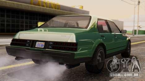 GTA 5 Albany Esperanto para GTA San Andreas esquerda vista