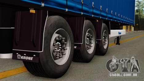 Trailer Krone Profiliner v1 para GTA San Andreas traseira esquerda vista
