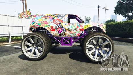 GTA 5 Vapid The Liberator Sticker Bomb v2.0f vista lateral esquerda