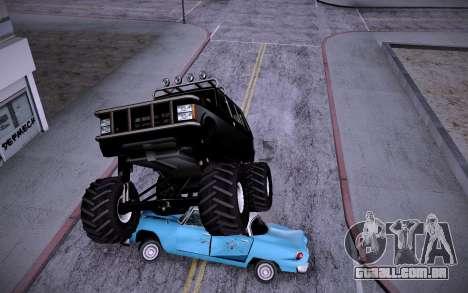 Huntley Monster v3.0 para GTA San Andreas traseira esquerda vista