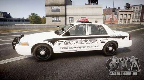Ford Crown Victoria 2008 New Alderney Sheriff para GTA 4 esquerda vista