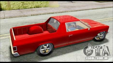 GTA 5 Cheval Picador para GTA San Andreas traseira esquerda vista