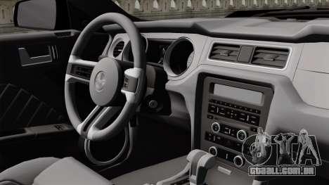 Ford Mustang GT 2010 para GTA San Andreas vista traseira