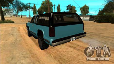 New Yosemite para GTA San Andreas vista inferior