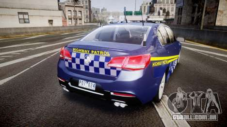 Holden VF Commodore SS Highway Patrol [ELS] v2.0 para GTA 4 traseira esquerda vista