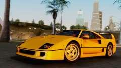 Ferrari F40 1987 without Up Lights para GTA San Andreas