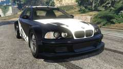 BMW M3 GTR E46 white on black para GTA 5