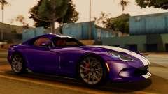 Dodge Viper SRT GTS 2013 IVF (HQ PJ) HQ Dirt para GTA San Andreas