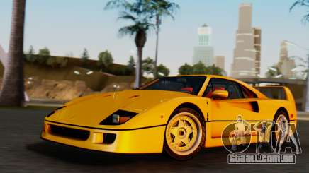 Ferrari F40 1987 without Up Lights para GTA San Andreas