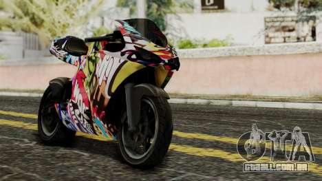 Bati Motorcycle JDM Edition para GTA San Andreas vista interior
