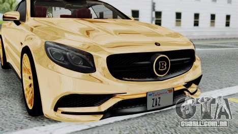 Brabus 850 Gold para GTA San Andreas vista interior