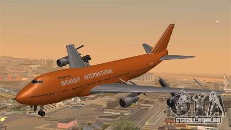 Boeing 747 Braniff para GTA San Andreas