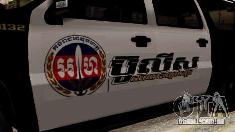 Sheriff Granger Police GTA 5 para GTA San Andreas traseira esquerda vista