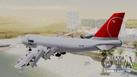 Boeing 747 Northwest Cargo para GTA San Andreas esquerda vista
