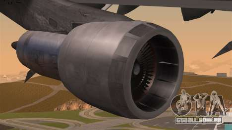 Boeing 747 Air France para GTA San Andreas vista direita