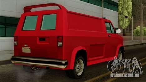 Burrito from Vice City Stories IVF para GTA San Andreas esquerda vista