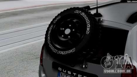 Dacia Duster Terranger 6x6 para GTA San Andreas vista traseira