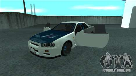 Nissan Skyline R34 Drift para GTA San Andreas vista inferior