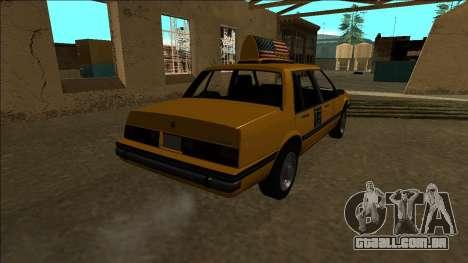 Willard Taxi para GTA San Andreas vista traseira
