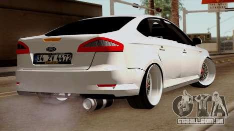 Ford Mondeo para GTA San Andreas esquerda vista