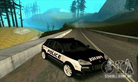 Porsche Cayenne Turbo S Federal Police para GTA San Andreas