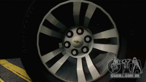Chevrolet Exterior FSB para GTA San Andreas vista traseira