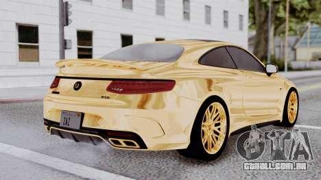 Brabus 850 Gold para GTA San Andreas esquerda vista