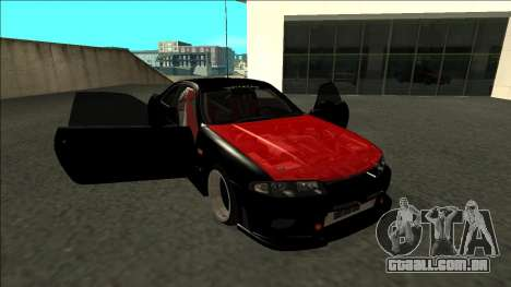 Nissan Skyline R33 Monster Energy para vista lateral GTA San Andreas