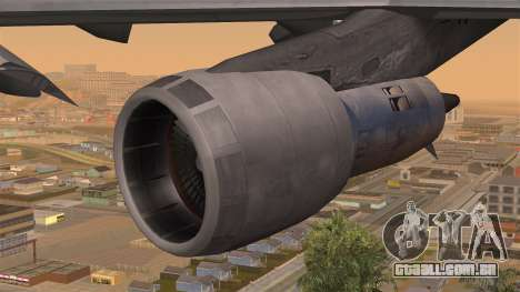 Boeing 747 Braniff para GTA San Andreas vista direita