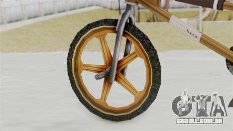 Retro BMX from Bully para GTA San Andreas traseira esquerda vista