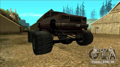 New Yosemite v2 Monster para GTA San Andreas vista traseira