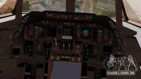 Boeing 747-200 Thai Airways para GTA San Andreas vista traseira