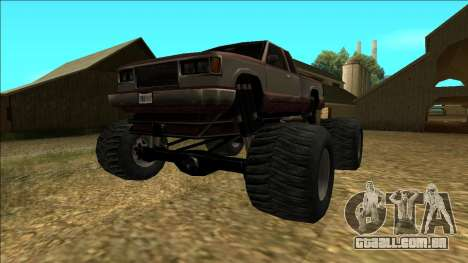 New Yosemite v2 Monster para GTA San Andreas traseira esquerda vista