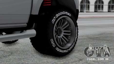 Dacia Duster Terranger 6x6 para GTA San Andreas traseira esquerda vista