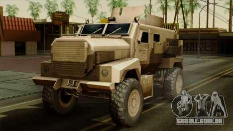 MRAP Cougar 4x4 para GTA San Andreas