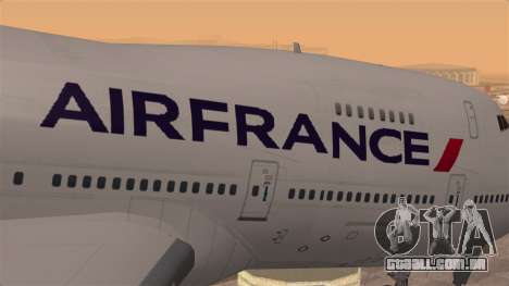 Boeing 747 Air France para GTA San Andreas vista traseira