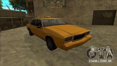 Tahoma Taxi para GTA San Andreas vista traseira