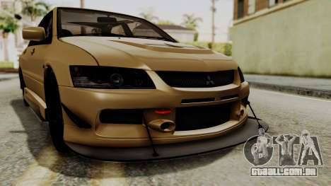 Mitsubishi Lancer Evolution IX MR 2006 para GTA San Andreas vista superior