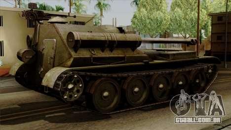 SU-101 122mm from World of Tanks para GTA San Andreas esquerda vista