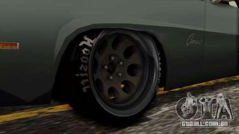 Chevrolet Camaro Drag Street para GTA San Andreas traseira esquerda vista